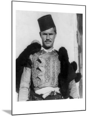 "Albanian Shkypetars ""Men of the Eagle"" Photograph - Albania-Lantern Press-Mounted Art Print"