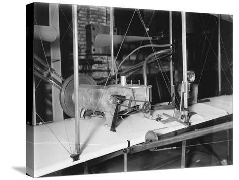 1903 Plane Motor from Wright Brothers' Shop Photograph-Lantern Press-Stretched Canvas Print