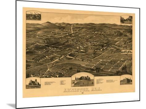 Anniston, Alabama - Panoramic Map-Lantern Press-Mounted Art Print