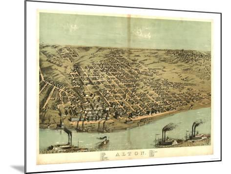 Alton, Illinois - Panoramic Map-Lantern Press-Mounted Art Print