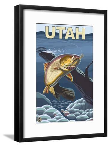 Cutthroat Trout Fishing - Utah-Lantern Press-Framed Art Print