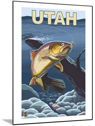 Cutthroat Trout Fishing - Utah-Lantern Press-Mounted Art Print