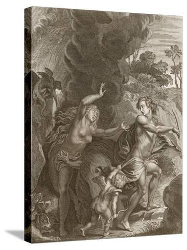 Orpheus, Leading Eurydice Out of Hell, Looks Back Upon Her and Loses Her Forever, 1731-Bernard Picart-Stretched Canvas Print