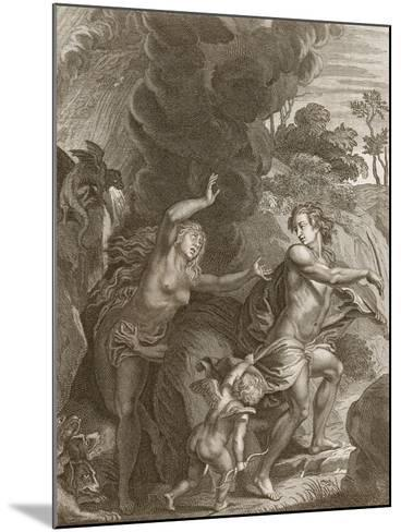 Orpheus, Leading Eurydice Out of Hell, Looks Back Upon Her and Loses Her Forever, 1731-Bernard Picart-Mounted Giclee Print