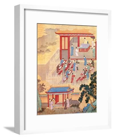 An Ancient Chinese Public Examination, Facsimile of Original Chinese Scroll--Framed Art Print