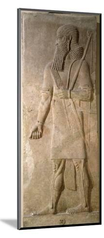 Relief of an Assyrian Warrior, from the Palace of Sargon II at Khorsabad, Iraq- Assyrian-Mounted Giclee Print