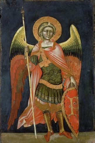 Warrior Angel, 1348-54-Ridolfo di Arpo Guariento-Stretched Canvas Print