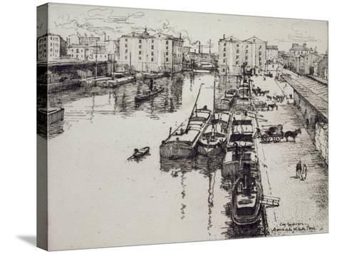 Bassin de La Villette, c.1903-Eugene Bejot-Stretched Canvas Print