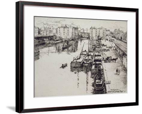 Bassin de La Villette, c.1903-Eugene Bejot-Framed Art Print