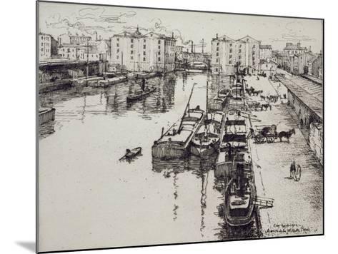 Bassin de La Villette, c.1903-Eugene Bejot-Mounted Giclee Print