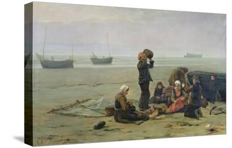 Waiting For the Fish, Berck-Sur-Mer-Charles Emmanuel Joseph Roussel-Stretched Canvas Print