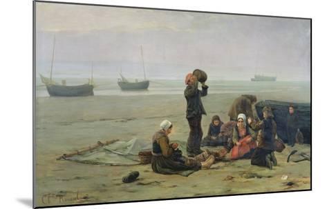 Waiting For the Fish, Berck-Sur-Mer-Charles Emmanuel Joseph Roussel-Mounted Giclee Print