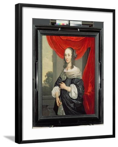 Portrait of a Lady-Louis-Michel van Loo-Framed Art Print