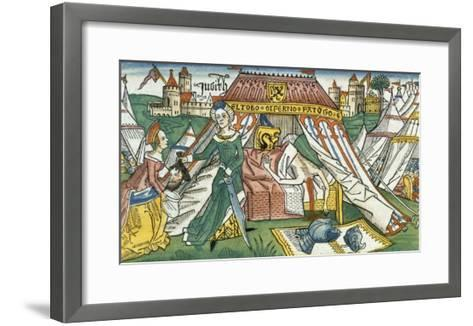 Apocrypha: Judith with the Severed Head of Holofernes--Framed Art Print