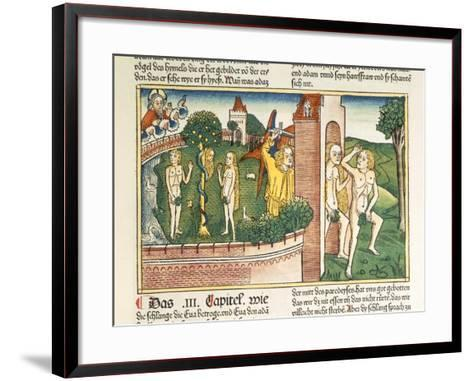 Genesis 3:1-24 the Temptation and the Expulsion from Paradise--Framed Art Print