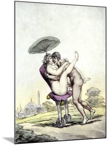 Couple Having Sex on a Wheeled Stool, 1808-17-Thomas Rowlandson-Mounted Giclee Print