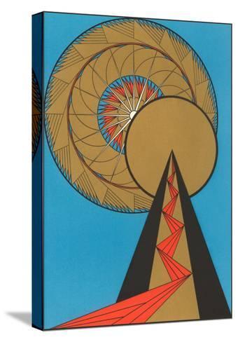 Geometric Art Deco--Stretched Canvas Print