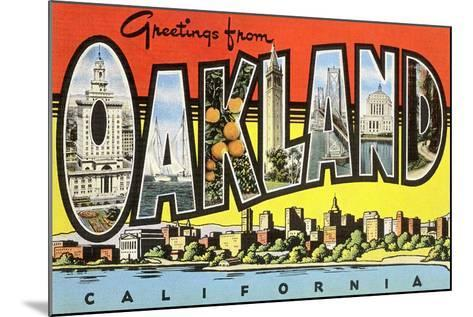 Greetings from Oakland, California--Mounted Art Print