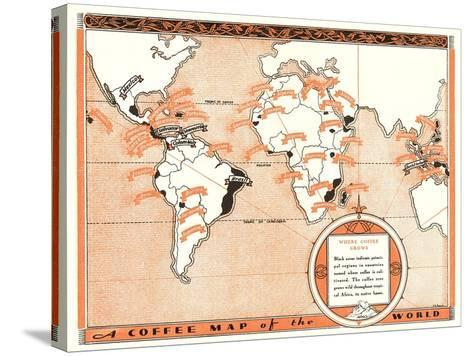 Coffee Map of the World--Stretched Canvas Print