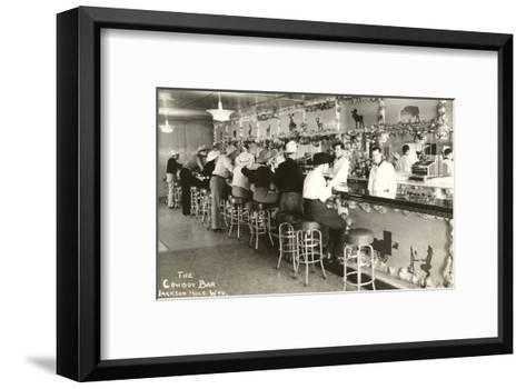 The Cowboy Bar, Jackson Hole, Wyoming--Framed Art Print