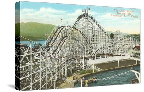 Giant Dipper Roller Coaster, Vancouver, British Columbia--Stretched Canvas Print