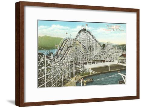 Giant Dipper Roller Coaster, Vancouver, British Columbia--Framed Art Print