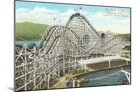 Giant Dipper Roller Coaster, Vancouver, British Columbia--Mounted Art Print