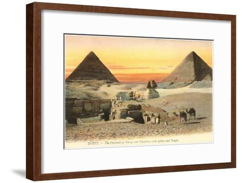 Pyramids and Sphinx, Egypt--Framed Art Print