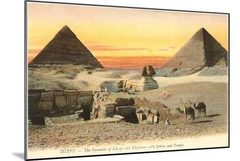 Pyramids and Sphinx, Egypt--Mounted Art Print