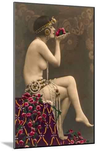 Topless Belly Dancer--Mounted Art Print