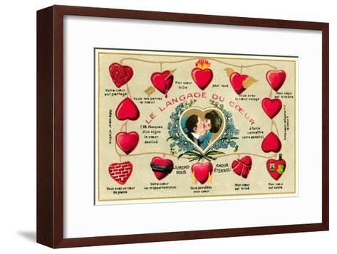 French Language of the Heart--Framed Art Print