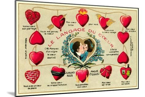 French Language of the Heart--Mounted Art Print