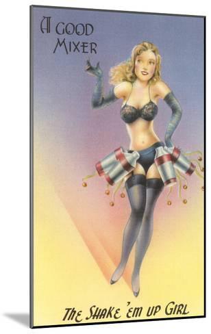 Shake 'em Up Girl Cocktail Shakers--Mounted Art Print