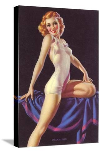 One Piece Lingerie--Stretched Canvas Print