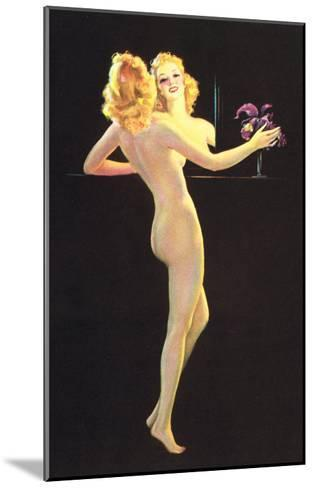 Nude in Front of Mirror--Mounted Art Print