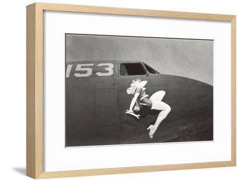 Nose Art, Pin-Up with Wrench--Framed Art Print