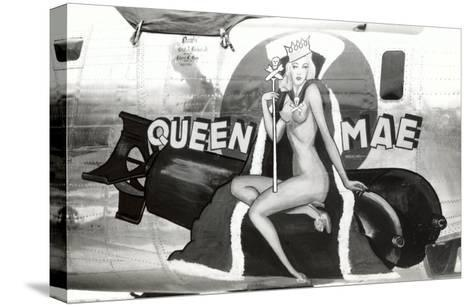 Nose Art, Queen Mae, Pin-Up--Stretched Canvas Print