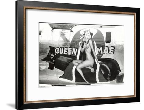 Nose Art, Queen Mae, Pin-Up--Framed Art Print