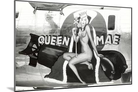 Nose Art, Queen Mae, Pin-Up--Mounted Art Print