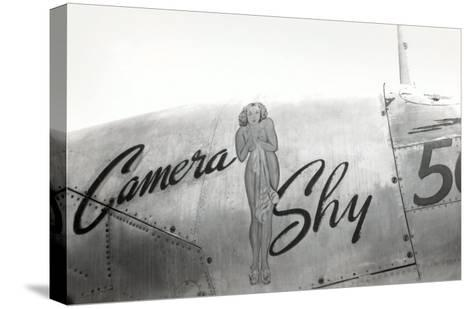 Nose Art, Camera Shy, Pin-Up--Stretched Canvas Print