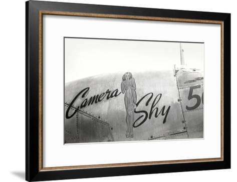 Nose Art, Camera Shy, Pin-Up--Framed Art Print