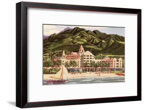 Royal Hawaiian Hotel, Hawaii--Framed Art Print
