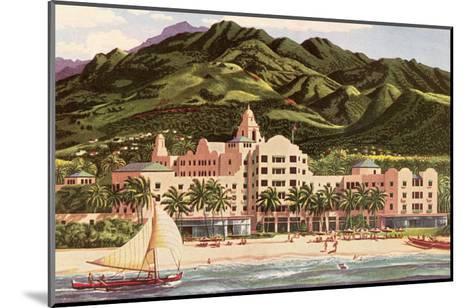 Royal Hawaiian Hotel, Hawaii--Mounted Art Print
