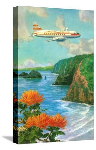 Airliner over Hawaii--Stretched Canvas Print