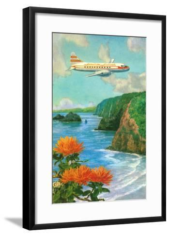 Airliner over Hawaii--Framed Art Print