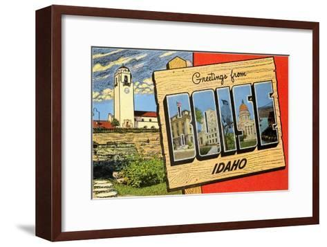 Greetings from Boise, Idaho--Framed Art Print