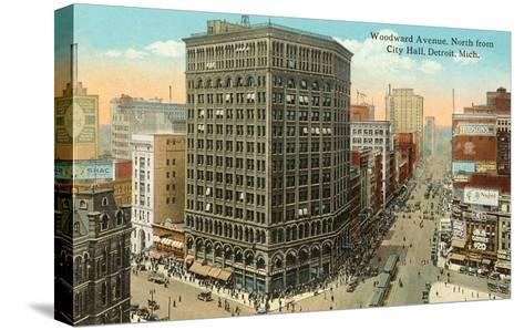 Woodward Avenue, Detroit, Michigan--Stretched Canvas Print