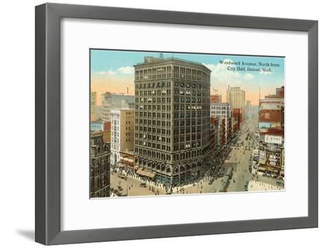 Woodward Avenue, Detroit, Michigan--Framed Art Print