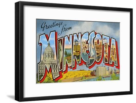 Greetingsfrom Minnesota--Framed Art Print