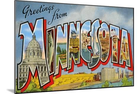 Greetingsfrom Minnesota--Mounted Art Print